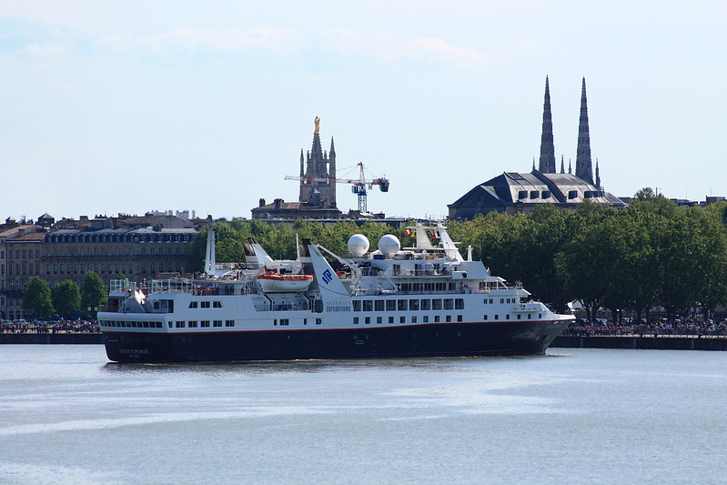 Arrivée du paquebot Silver Explorer - Bordeaux - 05 mai 2013