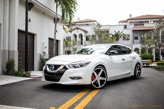 Nissan Maxima on CW-5 Matte Black Machined Face | by Concavo Wheels