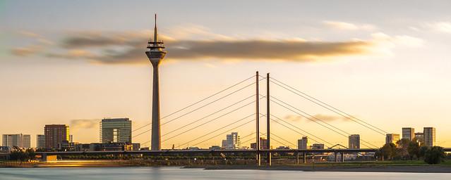 Düsseldorf, Skyline Sunset