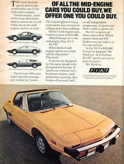 1977 Fiat X1 9 Advertisement Car And Driver September 1977 Flickr