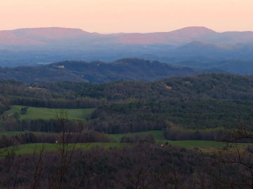 sunset landscape northcarolina blueridgeparkway westernnorthcarolina southernappalachians canonpowershotsx40hs lewisforkoverlook