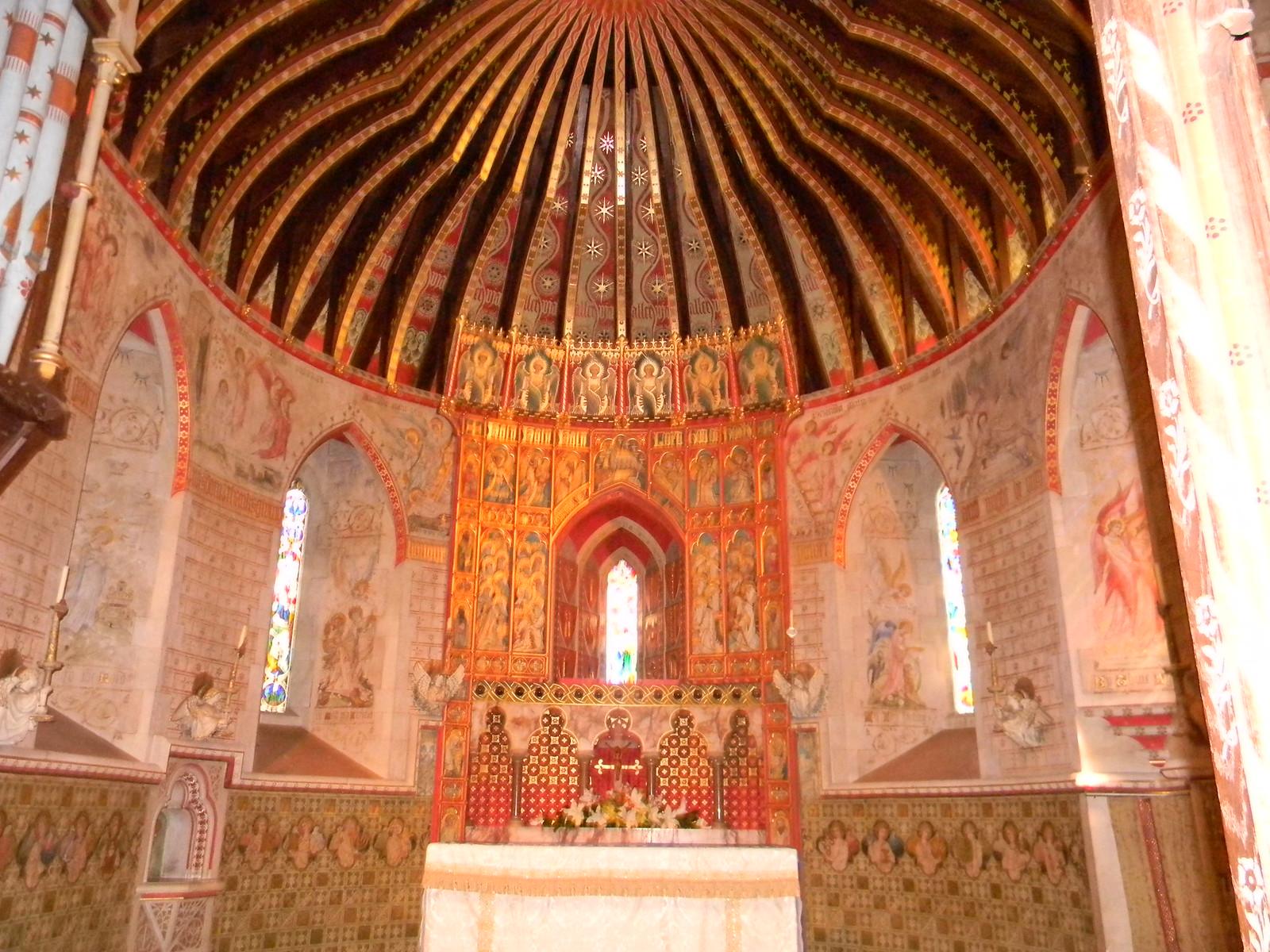 Inside Hascombe Church Milford to Godalming