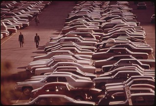 Monroe Street Parking Lot In Chicago Holds 2,700 Cars For Commuters At Lake Shore Drive, 10/1973 | by The U.S. National Archives