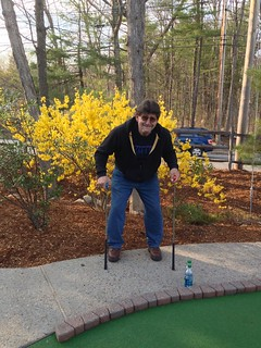 Miniature golfing or walking with two canes? | by fondofsnape