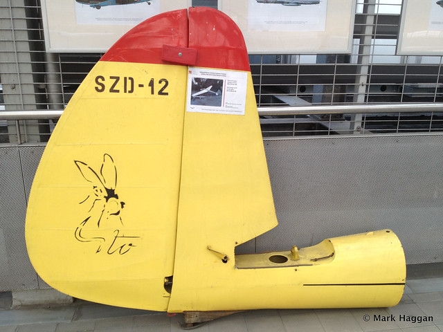 Rear fuselage section of SZD-12 Mucha 100 Glider at the Polish Aviation Museum in Krakow
