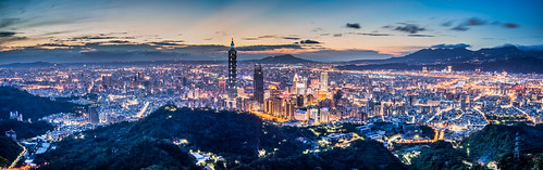 taipei101 skyline landscape skyscraper 台北101 台灣 風景 九五峰 cityscape city canon canoneos5dmarkiii longexposure building clouds 101 urban nightscene outdoor horizontal nopeople tone night taiwan taipei capitalcity highangle sunset 夕陽 夜景 color dramaticsky partlycloudy panorama 全景 40mm