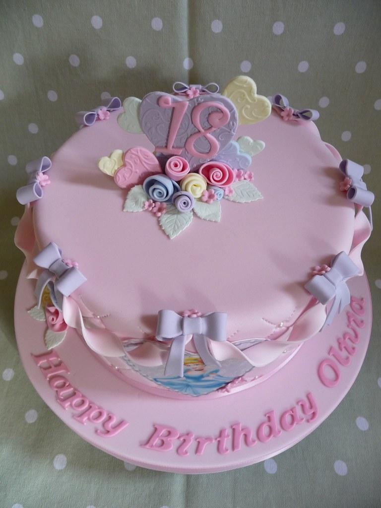 Admirable Disney Princess Cake 18Th Birthday Cake Debbie Flickr Personalised Birthday Cards Rectzonderlifede