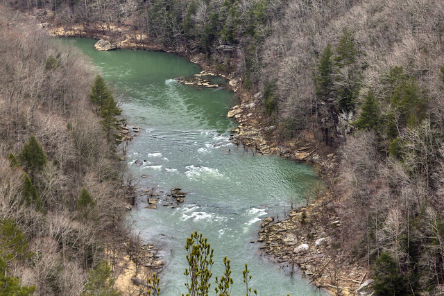 Big South Fork River from the East Rim Overlook, Scott Co, TN