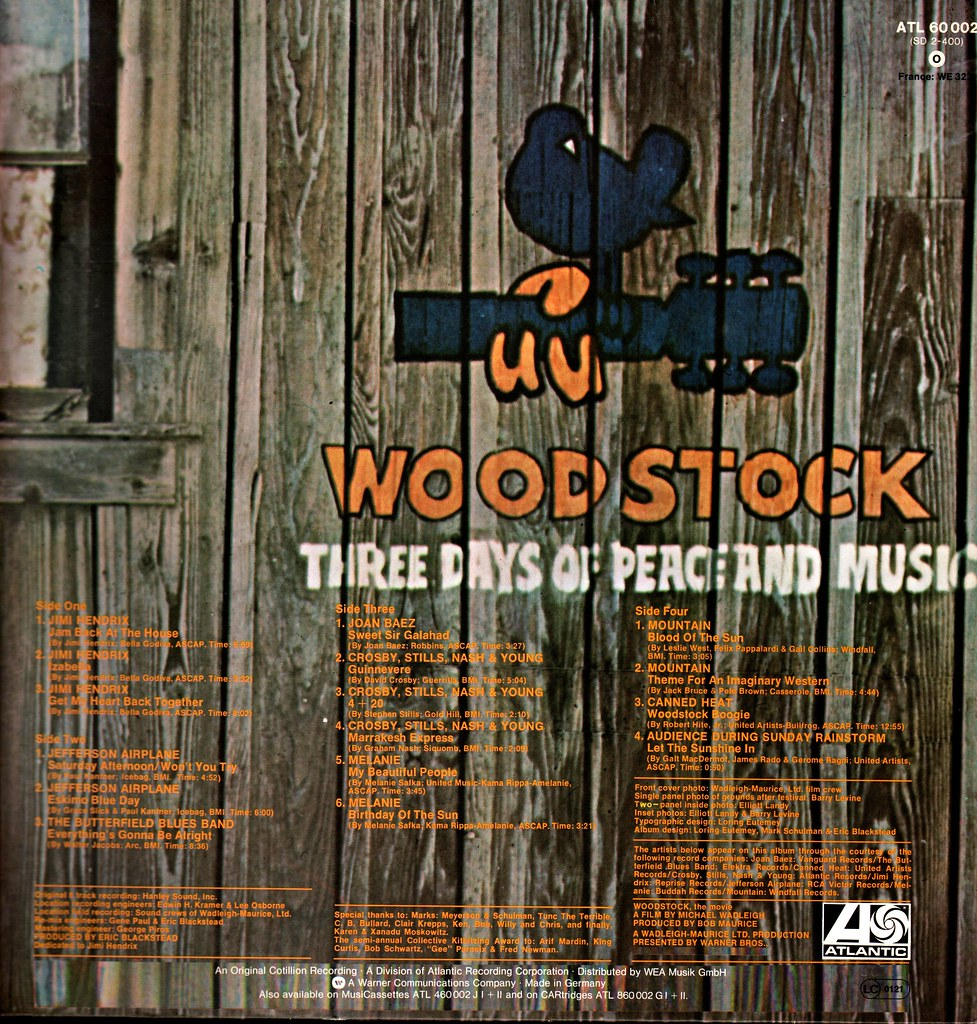 Various Artists - Woodstock 2 - D - 1971- Late 70s release… | Flickr