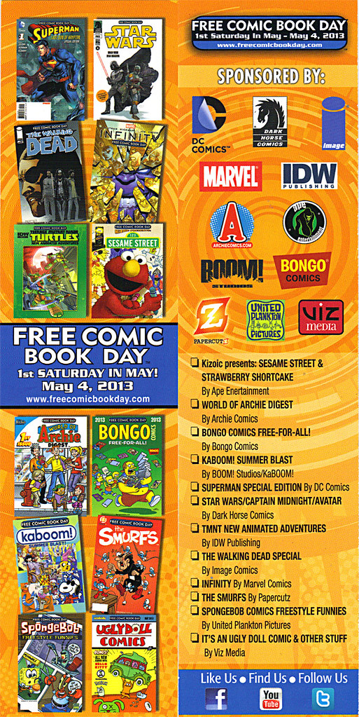FREE COMIC BOOK DAY :: Promotional Bookmark (( 2013 )) by tOkKa