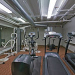 No need to leave the building for a workout with this custom in-building fitness center.