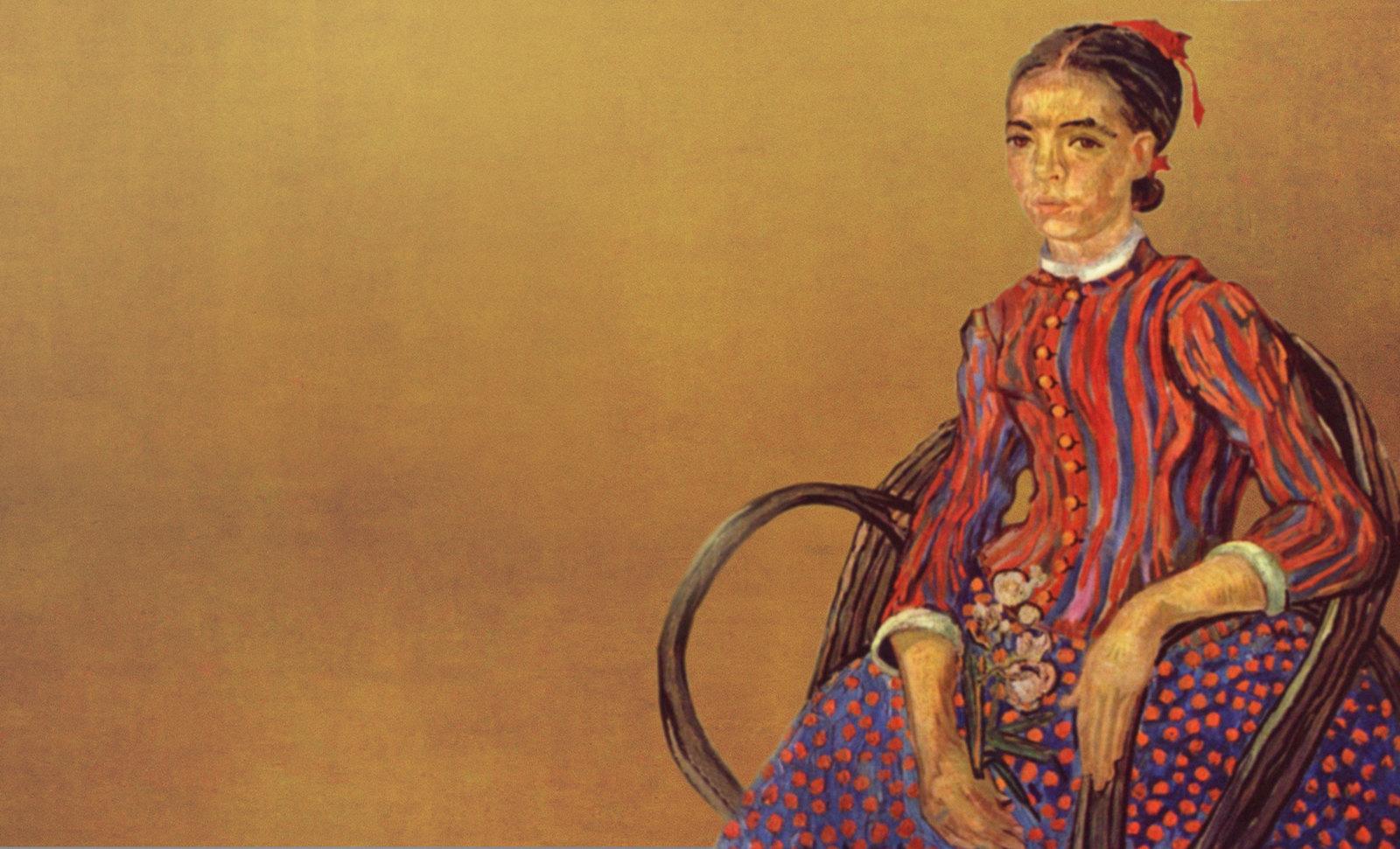 La Mousmé, estilización de Vincent van Gogh (1888), transpolación de Pablo Picasso (1937).