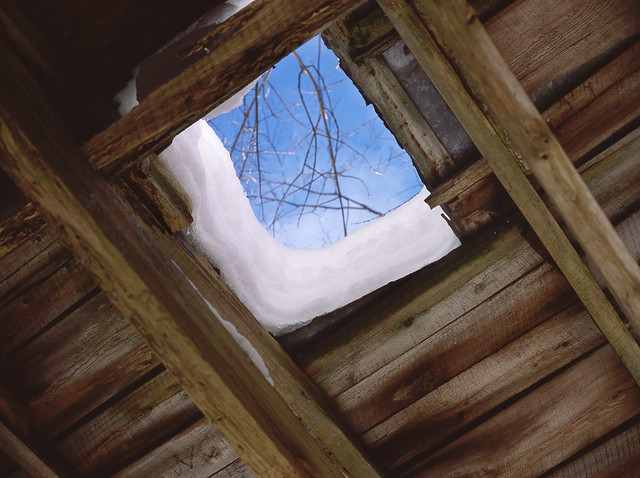 Snowy Roof Hole?
