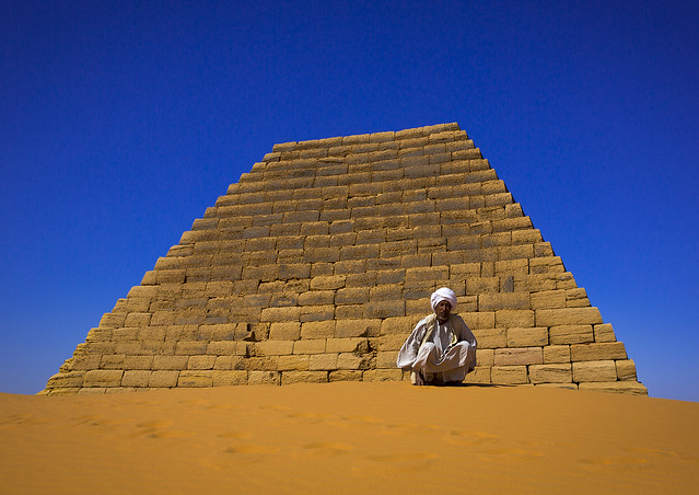 Pyramids And Tombs In Royal Cemetery, Meroe, Sudan