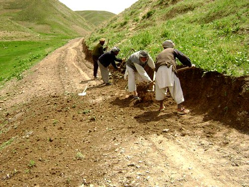 Road project, Takhtasoo village, Saghar district, Ghor province | by MRRD/NSP Public Communications Department