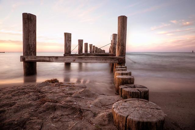 Sunset at the Baltic Sea Coast