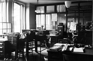 Department of Streets and Sewers office, 1921