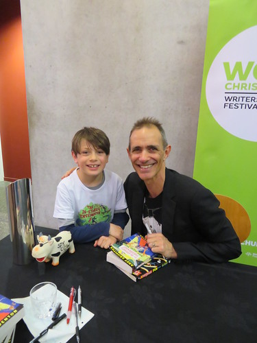 Max with author Andy Griffiths