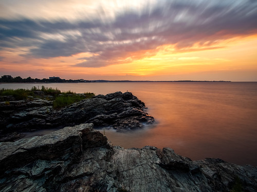 olympus ep5 panasonic 12mm32mm westhaven connecticut ct beach sunrise savin rock clouds longislandsound atlantic ocean sea water longexposure august 2016 landscape
