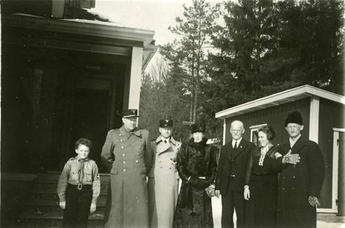 Føreren på besøk hos Trygve Gundersen, 1936.