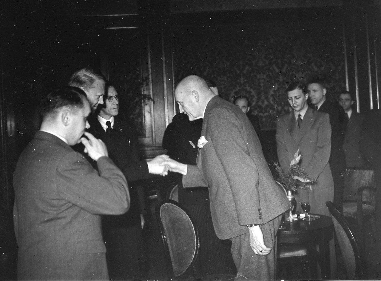 Presseempfang im Grand Hotel. 1942/02/19.