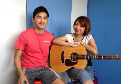 Adult guitar lessons Singapore Haydee