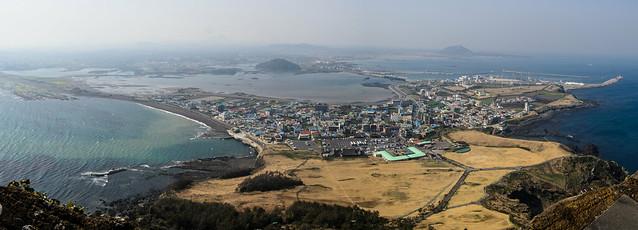 Panorama from Seongsan Ilchulbong (성산 일출봉)