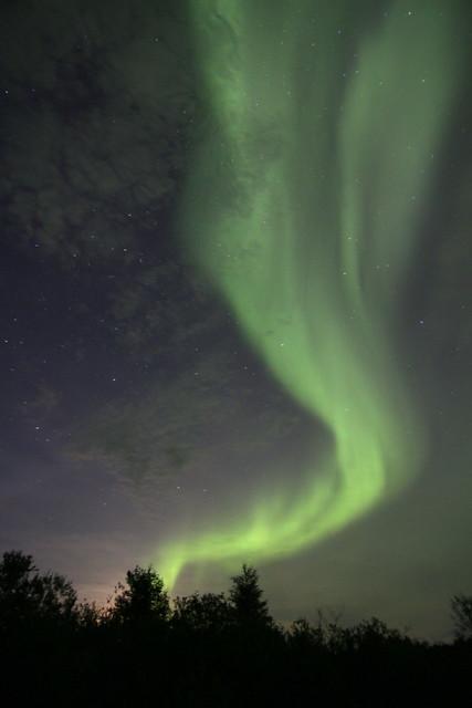 Cloudy aurora borealis