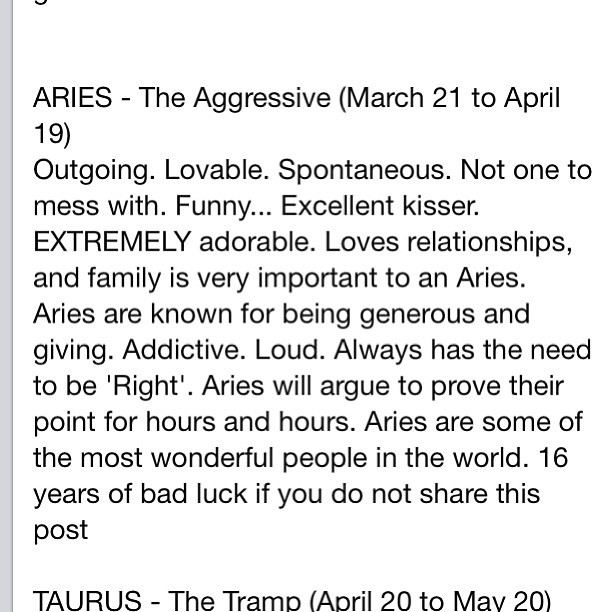 Aries personality traits, both good and bad: