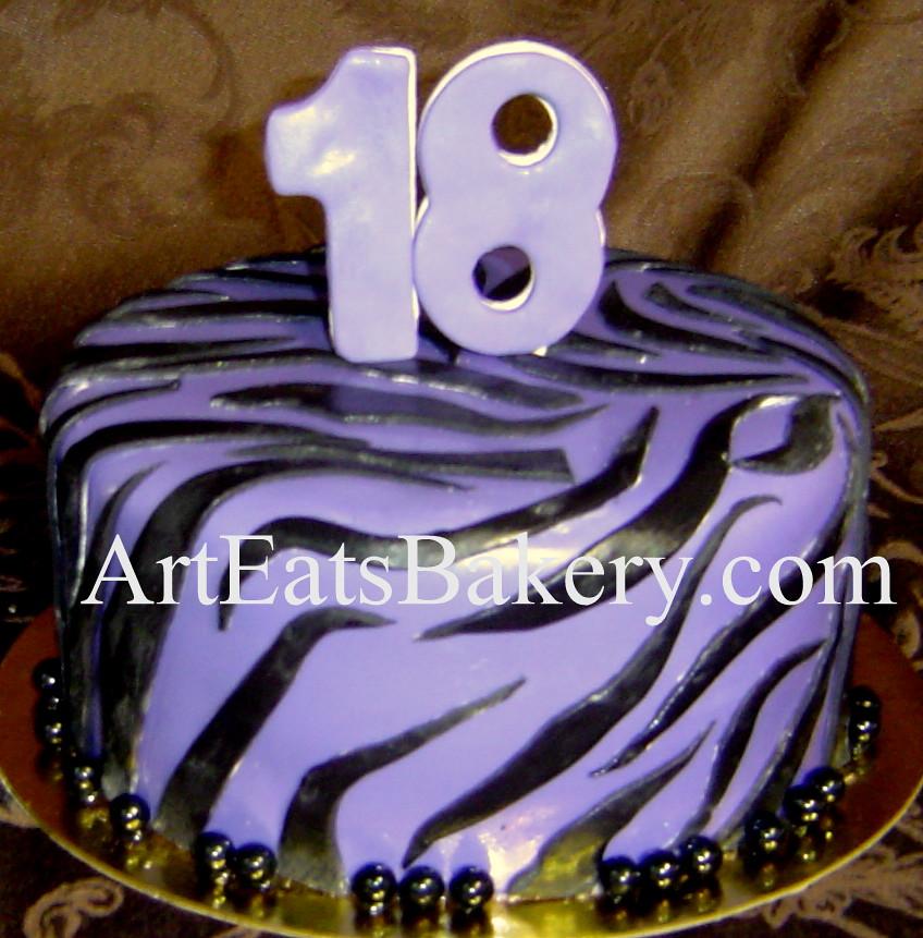 Stupendous Purple And Black Custom Unique Zebra Stripe Animal Print G Flickr Funny Birthday Cards Online Inifofree Goldxyz
