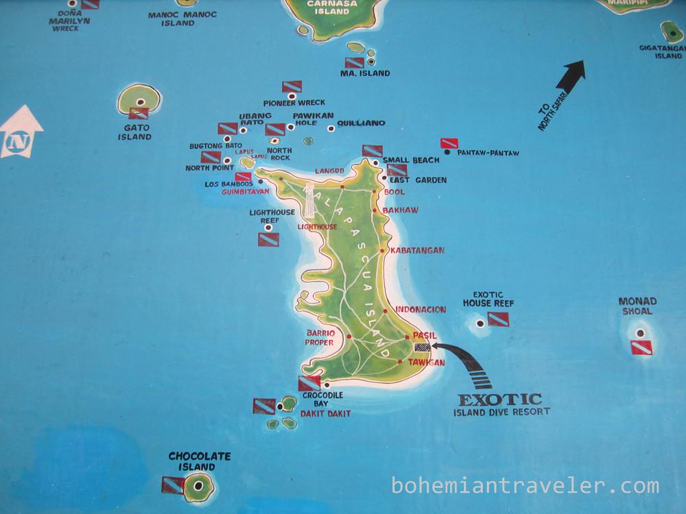 Malapasca Island map Philippines | Stephen Bugno | Flickr
