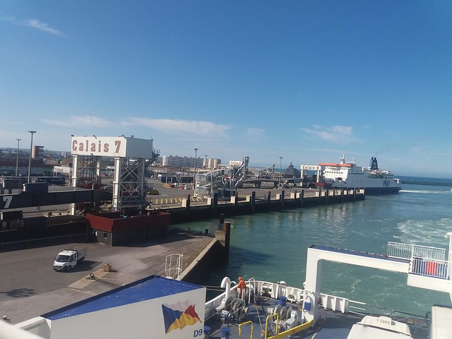 Port of Calais from P and O Spirit of Britain