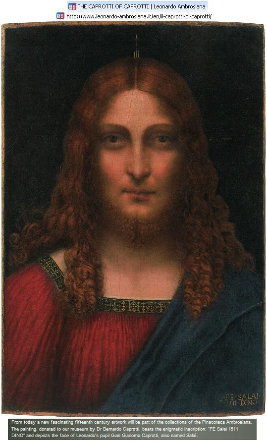Giacomo Caprotti (Andrea Salai, Salaino)  Christ Saviour