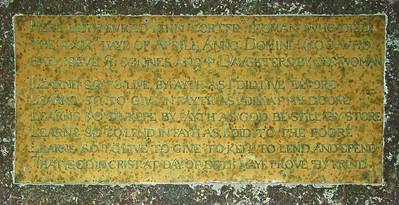 Here lieth buried John Porter, yeoman