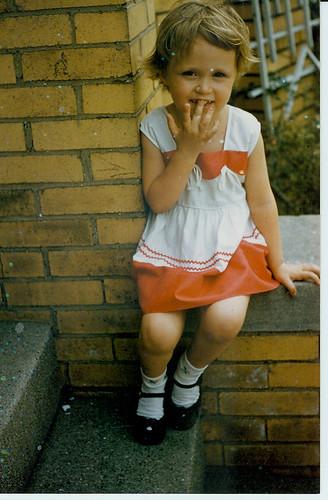 Laura at Grandpa's, 1955