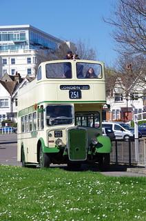 Eastern National Bristol KSW5G / ECW CN 2381, WNO 482 leaving Southend, Seaway for London, Wood Green