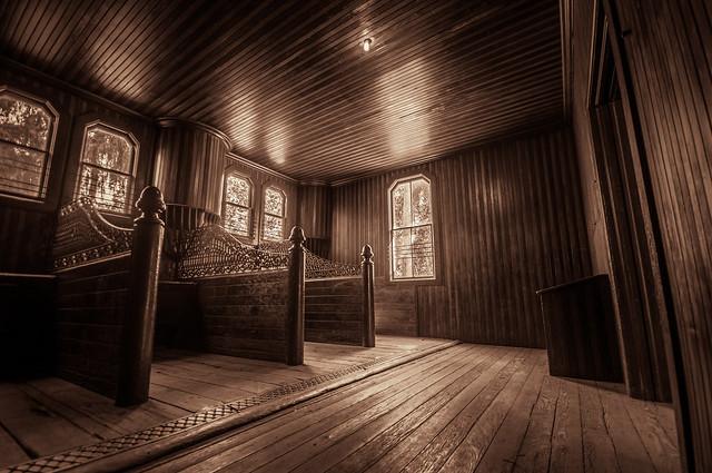 Lucky Baldwin's Barn Stalls - HDR Duotone
