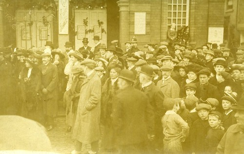 "Expectant Crowd outside ""Ye Picture Palace""  SOLVED. The Picture Playhouse, Beverley, Yorkshire"