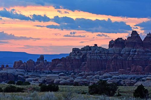canyonlands nationalpark sunset chesslerpark utah