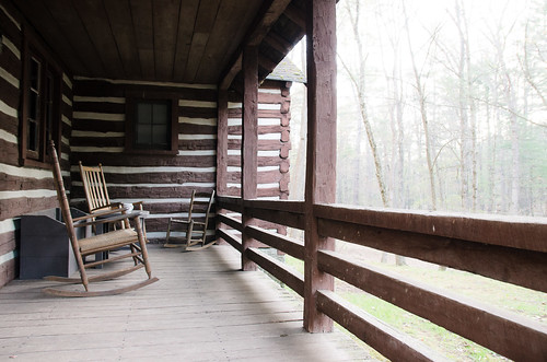 Cabin in the woods, Lost River State Park, WV | by srietzke