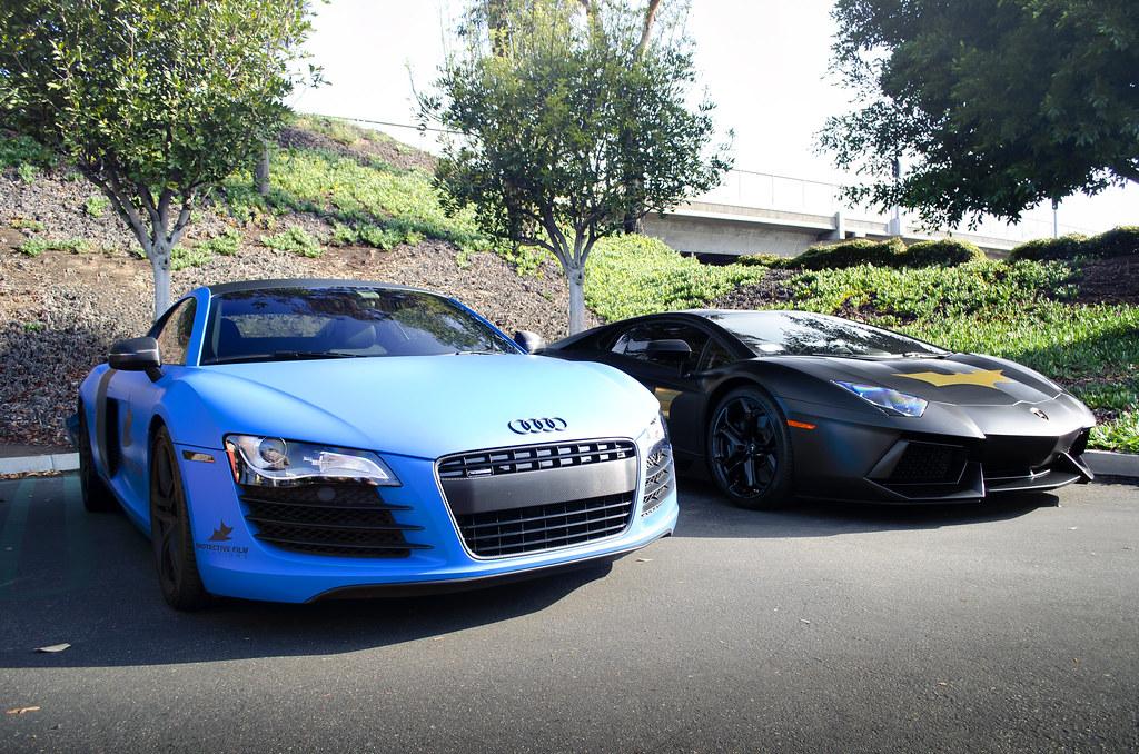 Matte Blue Audi R8 And Matte Black Lamborghini Aventador Flickr