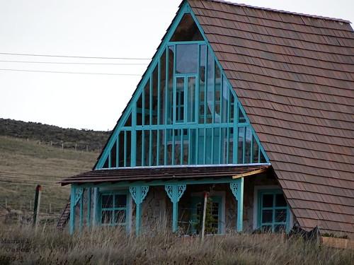 casa bonita azul aguamarina chalé chalet