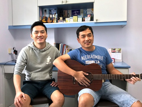 Private guitar lessons Singapore Mr Teo