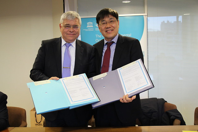 Signature of a Memorandum of Understanding between the IOC and the Republic of Korea, 19 January 2018
