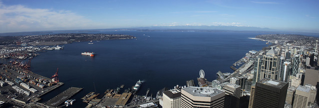 Elliott Bay panorama from Columbia Center