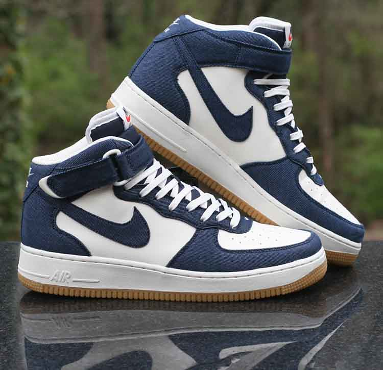 Nike Air Force 1 Mid 07 Denim Obsidian Sail Gum Light Brow