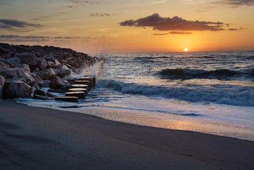 easter easter2018 resurrection fortfishersunrise fortfisher beach sunrise spring water wilmingtonnc waves jetty