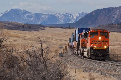 bnsf bnsf8515 emd sd70ace greenland colorado jointline pikespeak rampartrange greenlandopenspace train railroad sd70acep4