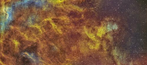 """""""Volcanic turmoil"""", radiating out from the propeller nebular ."""