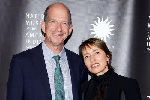 Gregory and Regina Annenberg Weingarten at a fundraising event